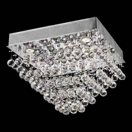 Worldwide 33244 Worldwide Square 20  5-light Crystal Style Flush-Mount Ceiling Light