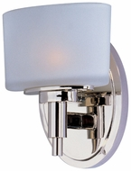 Maxim 9021SWPN Lola Contemporary 1-light Polished Nickel Bathroom Wall Sconce
