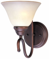 Maxim 12066WSOI Newport 1-light Satin Nickel Wall Sconce Lighting with Wilshire Glass