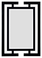 Kenroy Home 60002 Shinto 41 Inch Tall Gloss Black Modern Wall Mirror