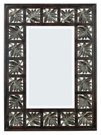 Kenroy Home 60005 Foliage 32 Inch Tall Rectangular Dark Walnut Wall Mounted Mirror