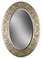 Kenroy Home 60026 Argento Wall Mounted Champagne Silver Gold Finish 40 Inch Tall Traditional Oval Mirror