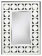 Kenroy Home 60043 Seabreeze 32 Inch Tall Rectangular Antique White Seashell Frame Mirror
