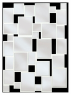Kenroy Home 60044 Hockney Gloss White Finish 39 Inch Tall Abstract Fragmented Mirror