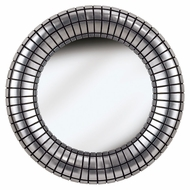 Kenroy Home 60053 Inga Round 34 Inch Diameter Silver Plate Finish Home Mirror