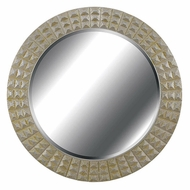 Kenroy Home 60092 Bezel Silver/Gold Gilt Studded Circle Mirror