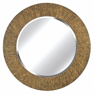 Kenroy Home 60094 Burl 33 Inch Diameter Striated Black And Tan Round Mirror