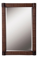 Kenroy Home 60099 Bundle 42 Inch Tall Natural Reed Finish Rustic Wall Mirror