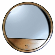 Kenroy Home 60200 Vino 30 Inch Diameter Light Oak Finish Circle Mirror