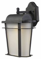ELK 43005/1 Hampton Ridge Traditional 14 Inch Tall Weathered Charcoal Exterior Wall Lamp - Medium