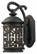 ELK 42360/1 Tuscany Coast Mediterranean Weathered Charcoal Finish Exterior LED Wall Lighting