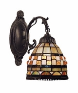 Landmark 618-CB Jewelstone 1 Light Tiffany Wall Sconce