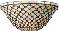 Meyda Tiffany 13551 Diamond Jewel 2 Bulb Tiffany Flushmount Ceiling Light
