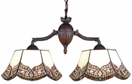 Meyda Tiffany 74016 Mariposa Tiffany Two Light Island Lamp