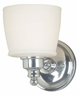 Kenroy Home 91701CH Riley Transitional Style 8 Inch Tall Chrome Lamp Sconce