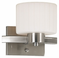 Kenroy Home 80411BS Legacy 7 Inch Tall Transitional Brushed Steel Sconce Lighting