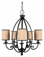 Quoizel GRY5005SN Grayson Traditional 5 Lamp Serengeti Finish Hanging Chandelier