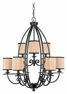Quoizel GRY5009SN Grayson 2 Tier Serengeti Finish Lighting Chandelier - 9 Lamps