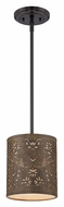 Quoizel CKFR1508K Fleur Transitional Mystic Black Ornate Mini Pendant Light Fixture