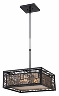 Quoizel KNR2817K Kenner Mystic Black Finish 17 Inch Diameter Mini Drop Lighting Fixture