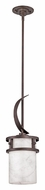 Quoizel KY1507IN Kyle Iron Gate Finish 8 Inch Diameter Transitional Mini Hanging Lamp