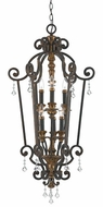 Quoizel MQ5206HL Marquette Heirloom Foyer Light with Crystal Drops