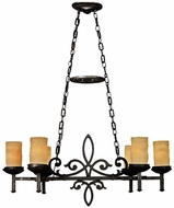 Quoizel LP639IB La Parra 6-Light Imperial Bronze Kitchen Island Chandelier