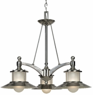 Quoizel NA5103BN New England Kool Kitchen 3-Light Chandelier in Brushed Nickel