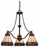 Landmark 700783 Stone Filigree 3-Light Chandelier
