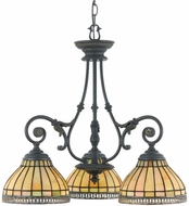 Quoizel TFSO5103DN Sonnet 3 Light Tiffany Chandelier