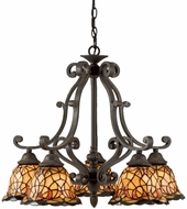 Quoizel TF5002IB Monaco 5-Light Tiffany Chandelier in Imperial Bronze