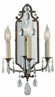 Feiss WB1218-BRB Maison de Ville Traditional 3-light 18 inch Wall Sconce in British Bronze