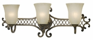 Kenroy Home 91463DS Lattice 3-Lamp Traditional Vanity Light