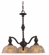 Landmark 66196-3 Norwich Traditional 3 Lamp Oiled Bronze Chandelier - Downlight