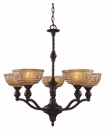 Landmark 66197-5 Norwich 5 Lamp 28 Inch Diameter Traditional Chandelier - Oiled Bronze