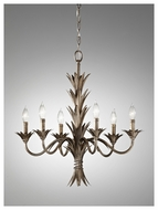 Feiss F26866STA Flora Rustic 6-candle Chandelier