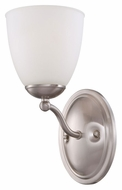 Nuvo 605051 Patton Fluorescent Energy Star 11 Inch Tall Brushed Nickel Wall Sconce
