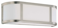 Nuvo 603802 Odeon ES 2-Lamp Wall Sconce in Brushed Nickel