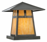 Meyda Tiffany 111022 Square Stillwater T Mission Craftsman Style 12 Inch Tall Pier Mount
