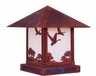 Arroyo Craftsman TRC-12GS Timber Ridge 12 inch Outdoor Pier Mount with Goose Filigree