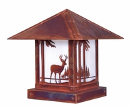 Arroyo Craftsman TRC-12DR Timber Ridge 12 inch Outdoor Pier Mount with Deer Filigree