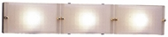 PLC 1803 Gem Contemporary 3 Light Acid Frost Halogen Bathroom Light
