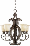 Kichler 2108OI High Country Olde Iron 5-Light Country Chandelier