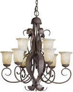 Kichler 2109OI High Country Olde Iron 9-Light, 2-Tier Country Chandelier