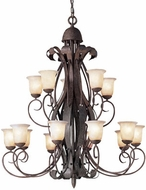 Kichler 2111OI High Country Olde Iron 15-Light, 2-Tier Country Chandelier