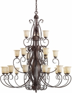 Kichler 2114OI High Country Olde Iron 21-Light, 3-Tier Country Grande Chandelier