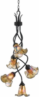 Quoizel BLFF5105IB Bellissimo 5 Light Imperial Bronze Chandelier with Fine Feather Art Glass