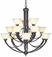 Quoizel DY5101 Delray 15-Light Chandelier in Vintage Bordeaux