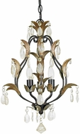 Quoizel QMC5003BG 3 Light Mini Opaque Crystal Chandelier in Bombay Gold