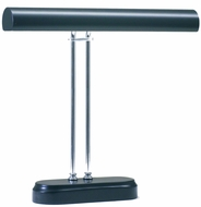 Chrome 2 Light Piano Lamp with Black Accents
